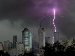 The super cell that hit Brisbane last week.